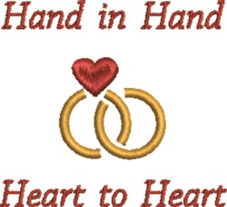 Hand In Hand embroidery design