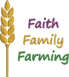 Faith Family Farming embroidery design