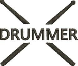 Drummer embroidery design