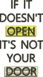 Open Door embroidery design