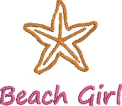 Beach Girl embroidery design