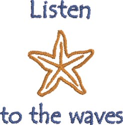 Listen To Waves embroidery design