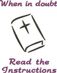 Read The Instructions Bible embroidery design
