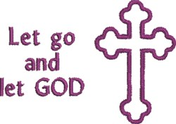 Let Go Crucifix embroidery design