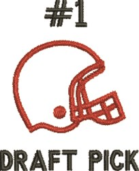 #1 Draft Pick embroidery design