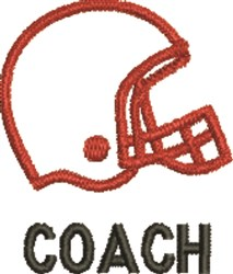 Coach - Football Helmet embroidery design