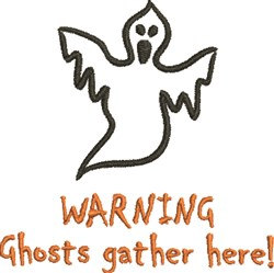 Ghost Warning embroidery design