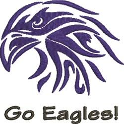 Eagle Mascot embroidery design