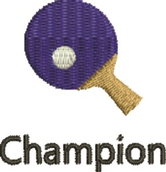 Table Tennis embroidery design