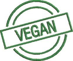 Vegan Seal embroidery design