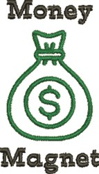 Money Magnet embroidery design