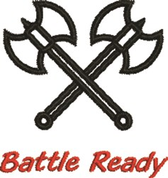Battle Ready Outline embroidery design