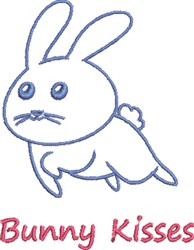 Bunny Kisses embroidery design