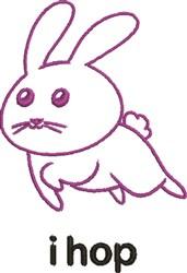 iHop Bunny embroidery design