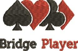 Bridge Player embroidery design