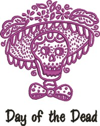 Day Of The Dead embroidery design