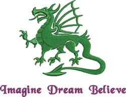 Imagine Dream Believe embroidery design