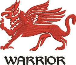 Warrior Griffin embroidery design