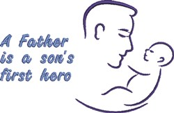 Father & Son embroidery design