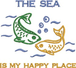 Fishing, My Happy Place embroidery design