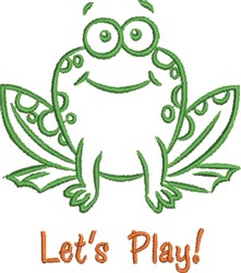 Lets Play Frog embroidery design