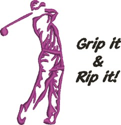 Grip It & Rip It embroidery design