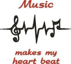 Music Heartbeats embroidery design