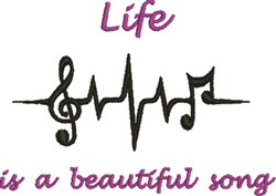 A Beautiful Song embroidery design