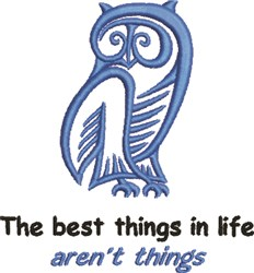 Best Things In Life embroidery design