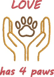 Love Hat 4 Paws embroidery design
