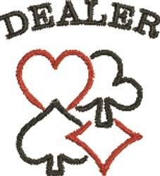 Card Dealer embroidery design