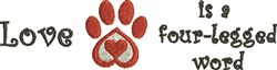 Love Your Pets embroidery design