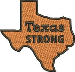 Texas Strong embroidery design