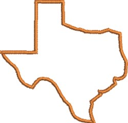 Texas Outline embroidery design