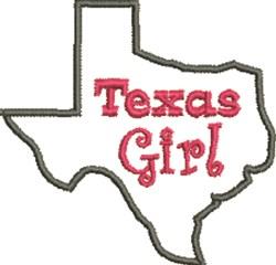 Texas Girl Outline embroidery design
