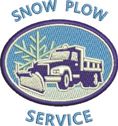 Snow Plow Service embroidery design