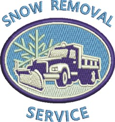 Snow Removal Service embroidery design