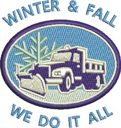 Snow Plow Patch embroidery design
