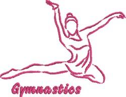 Gymnastics Outline embroidery design