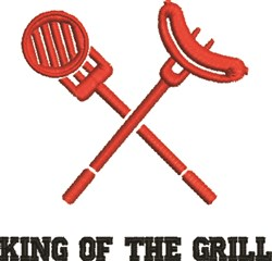 King Of The Grill embroidery design