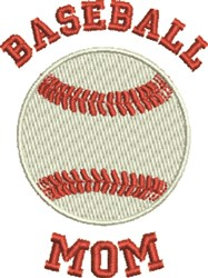 Baseball Mom embroidery design