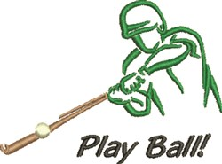 Play Ball Outline embroidery design