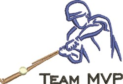 Team MVP Outline embroidery design