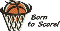 Born To Score embroidery design
