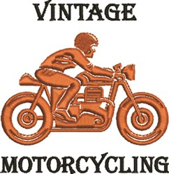 Vintage Motorcycling embroidery design