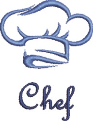 Chef Hat Outline embroidery design