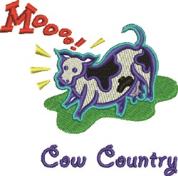 Mooooo Cow Country embroidery design