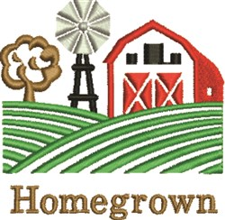 Homegrown Farm embroidery design