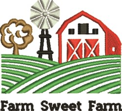Farm Sweet Farm embroidery design