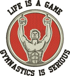 Gymnastics Is Serious embroidery design
